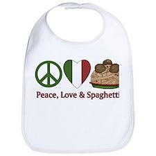 Peace, Love & Spaghetti Bib