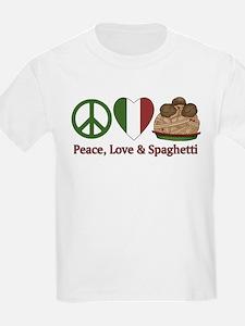 Peace, Love & Spaghetti T-Shirt