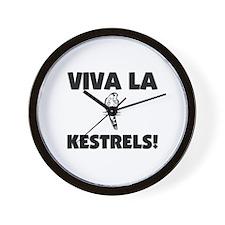 Viva La Kestrels Wall Clock