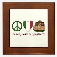 Peace, Love & Spaghetti Framed Tile