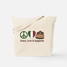 Peace, Love & Spaghetti Tote Bag