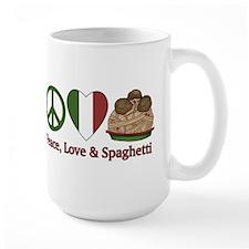 Peace, Love & Spaghetti Mug