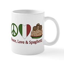 Peace, Love & Spaghetti Small Mug