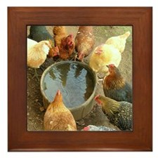 Gossip at the waterin' hole Framed Tile