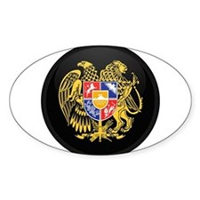 Coat of Arms of Armenia Oval Decal