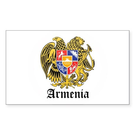 Armenian Coat of Arms Seal Rectangle Sticker