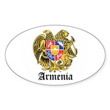 Armenian Coat of Arms Seal Oval Decal