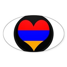 I love Armenia Flag Oval Decal