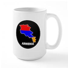 Flag Map of Armenia Mug