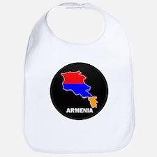 Flag Map of Armenia Bib