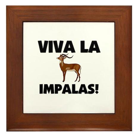 Viva La Impalas Framed Tile