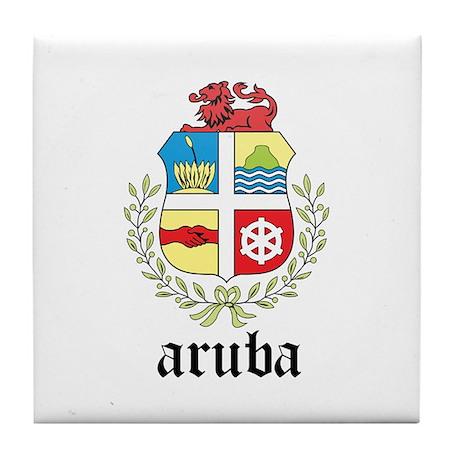 Aruban Coat of Arms Seal Tile Coaster