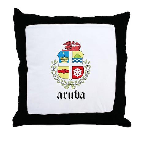 Aruban Coat of Arms Seal Throw Pillow