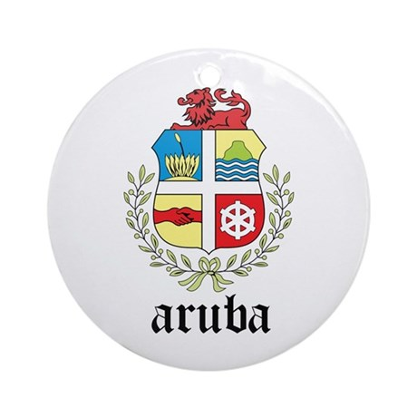 Aruban Coat of Arms Seal Ornament (Round)