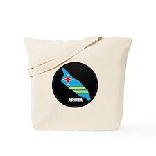 Flag Map of Aruba Tote Bag