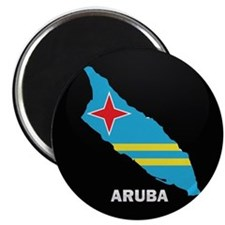 Flag Map of Aruba Magnet