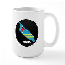 Flag Map of Aruba Mug
