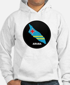 Flag Map of Aruba Hoodie