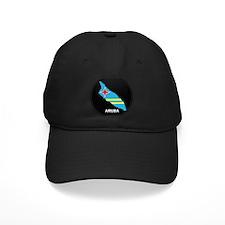 Flag Map of Aruba Baseball Hat
