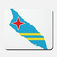 Aruba Flag Map Mousepad
