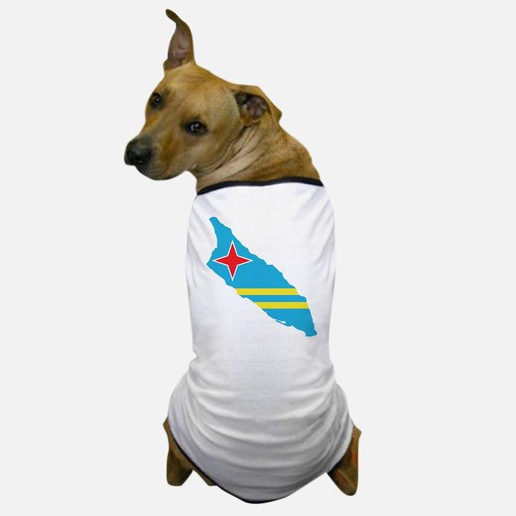 Aruba Flag Map Dog T-Shirt