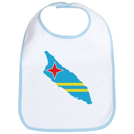 Aruba Flag Map Bib