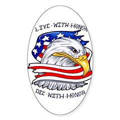 American Pride Oval Decal