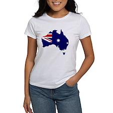 Australia Flag Map Tee