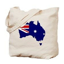 Australia Flag Map Tote Bag