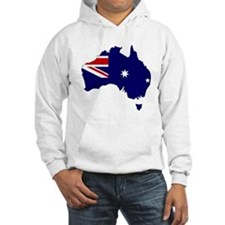 Australia Flag Map Hoodie