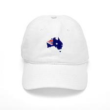 Australia Flag Map Baseball Cap