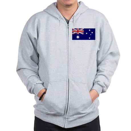 Australia Flag Zip Hoodie