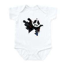 Azerbaijan Flag Map Infant Bodysuit