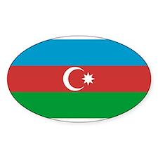 Azerbaijan Flag Oval Decal