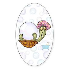 Crazy Turtle Bathtime Oval Decal