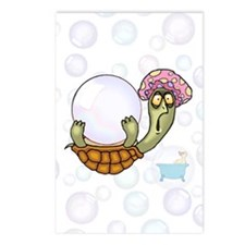 Crazy Turtle Bathtime Postcards (Package of 8)
