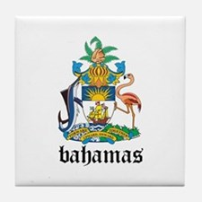 Bahamian Coat of Arms Seal Tile Coaster