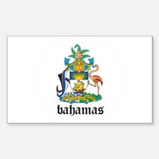 Bahamian Coat of Arms Seal Rectangle Decal