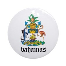 Bahamian Coat of Arms Seal Ornament (Round)