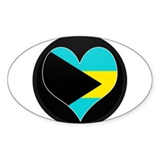 I love Bahamas Flag Oval Decal