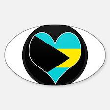 I love Bahamas Flag Oval Decal