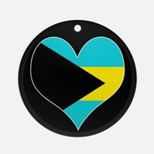 I love Bahamas Flag Ornament (Round)