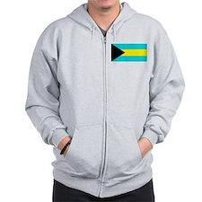 Bahamas Flag Zip Hoodie