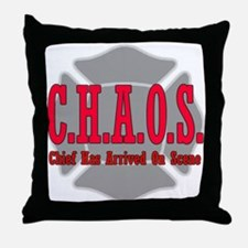 CHAOS Chief Has Arrived on Sc Throw Pillow