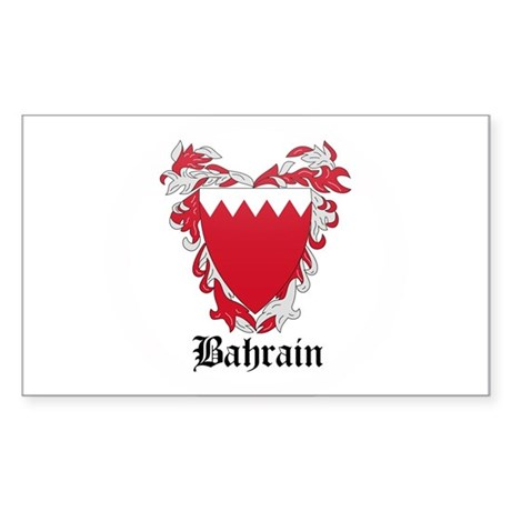Bahraini Coat of Arms Seal Rectangle Sticker
