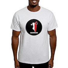 Flag Map of Bahrain T-Shirt