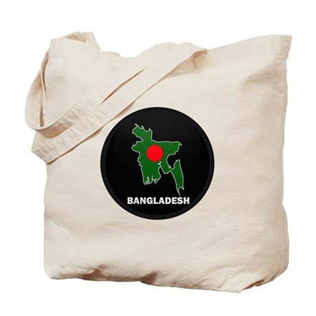 Flag Map of Bangladesh Tote Bag