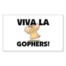 Viva La Gophers Rectangle Decal