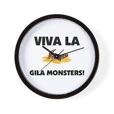Viva La Gila Monsters Wall Clock