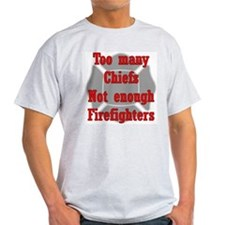 Too many Chiefs... Ash Grey T-Shirt